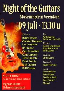 Zaterdag 9 juli 2016 Night Of The Guitars in Veendam
