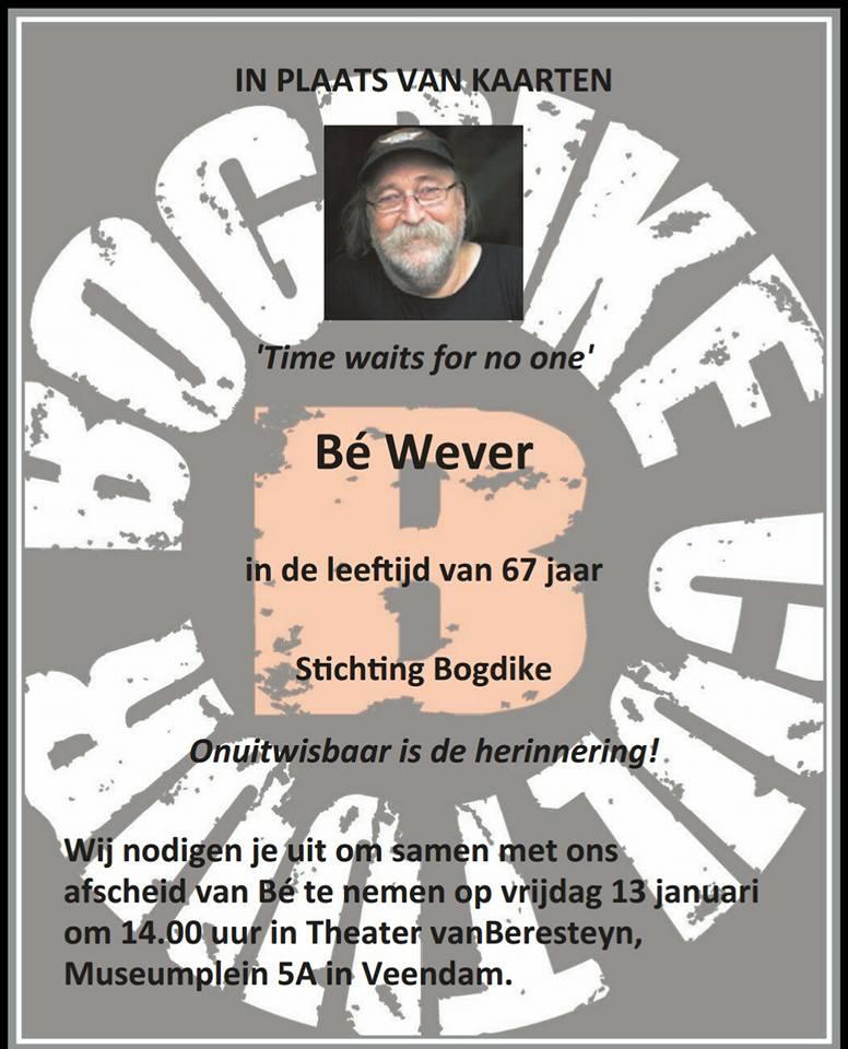 Rouwadvertentie Be Wever