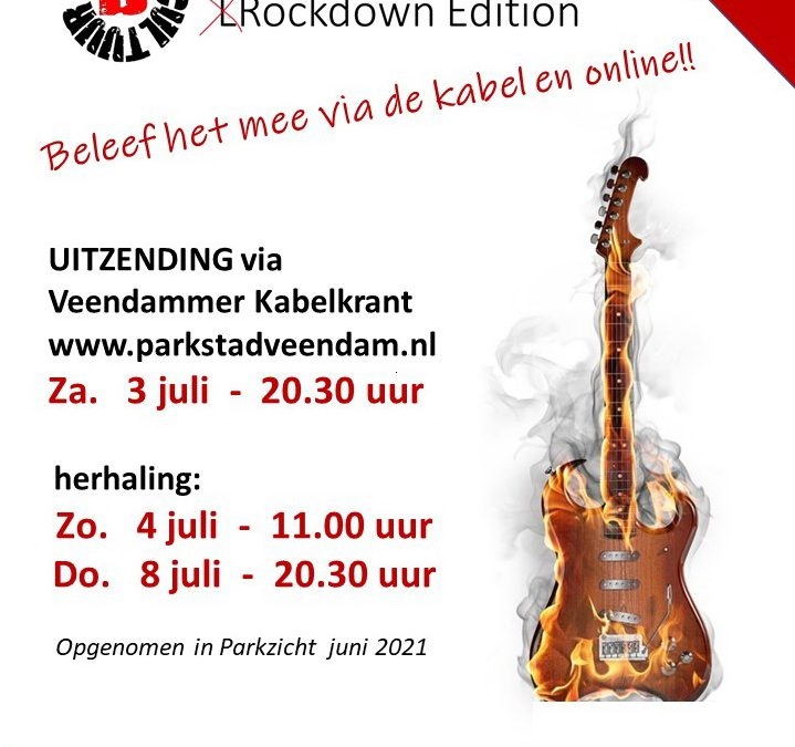 Night of the Guitars Rockdown Edition op TV