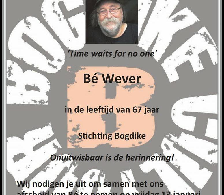 Herdenkingsbijeenkomst Bé Wever in theater vanBeresteyn