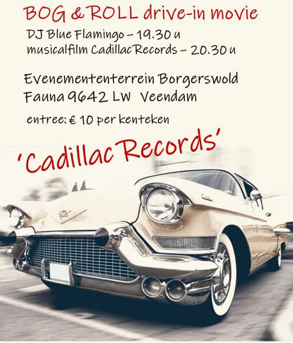 Bogdike organiseert op 18 en 19 september drive-in bioscoop Bog- & Roll met de film Cadillac Records