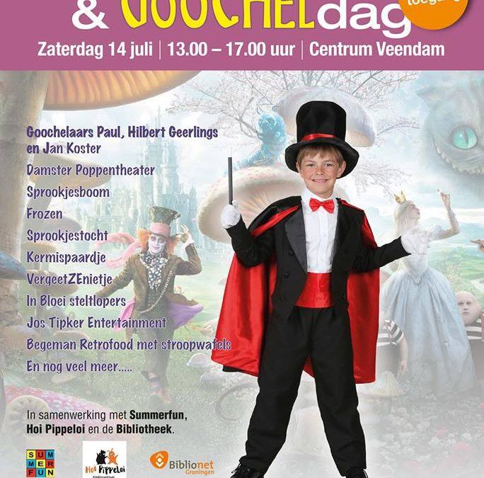 Sprookjesdag / Goocheldag zaterdag 14 juli 2018 in Veendam